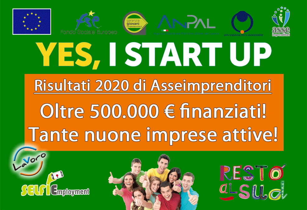 oltre 500.000 euro finanziati in poco tempo grazie a Yes I Start Up
