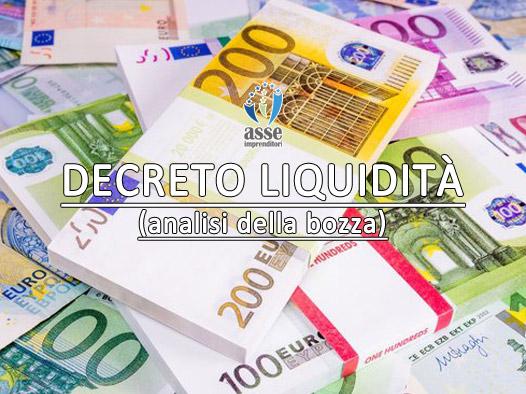 Decreto liquidità 2020. Approvato dal Consiglio dei Ministri del 6/4/2020