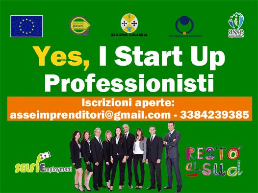 Iscrizioni aperte Yes i start up professioni Calabria