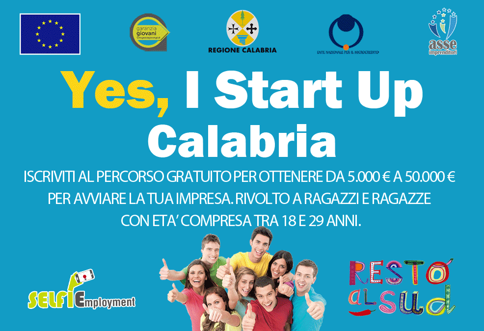 Percorso formazione Yes I Start Up Calabria (VV)