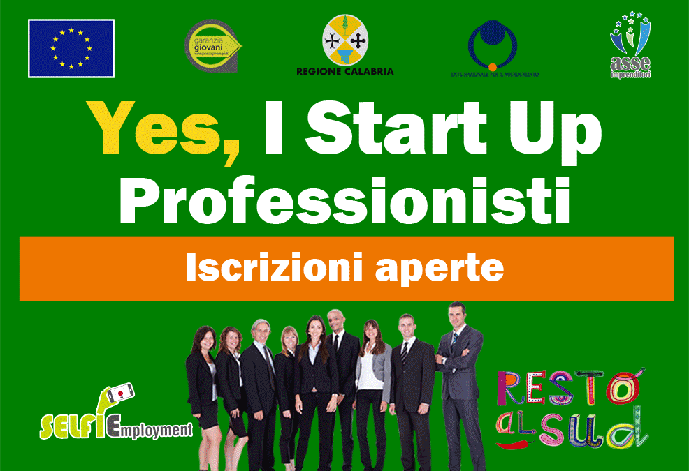 Percorso formazione Yes I Start Up Professionisti Calabria (VV)